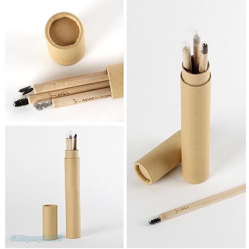 지관필통 + 씨앗연필 3개가 한 세트!
