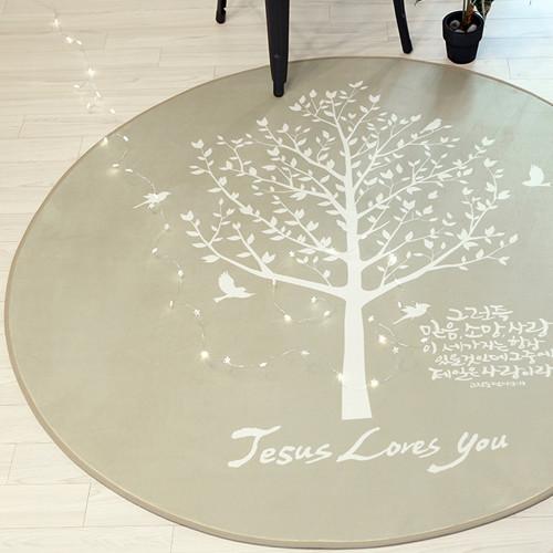 [말씀러그]믿음소망사랑_원형(대150)