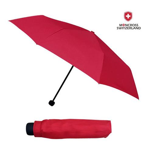 몽크로스 3단 레드 솔리드 우산