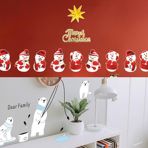 PSC-60039-0034세트 크리스마스 꼬마눈사람친구들과 북극곰 가족