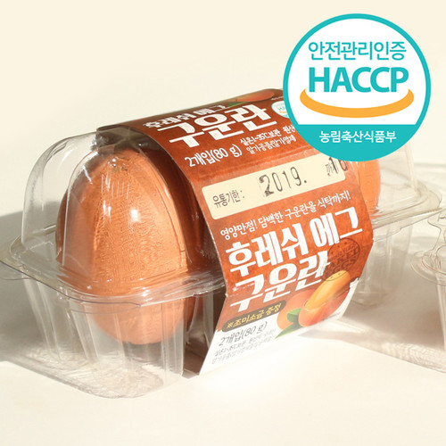 계란사랑 맥반석 구운계란 구운란 2구(80g)*24팩