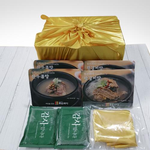 [태현쿡]프리미엄 선물세트B (왕갈비탕 600g 2팩   한우곰탕 600g 2팩)