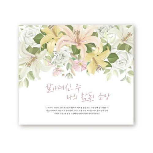 부활절 영상 배경 현수막 - 살아계신 주