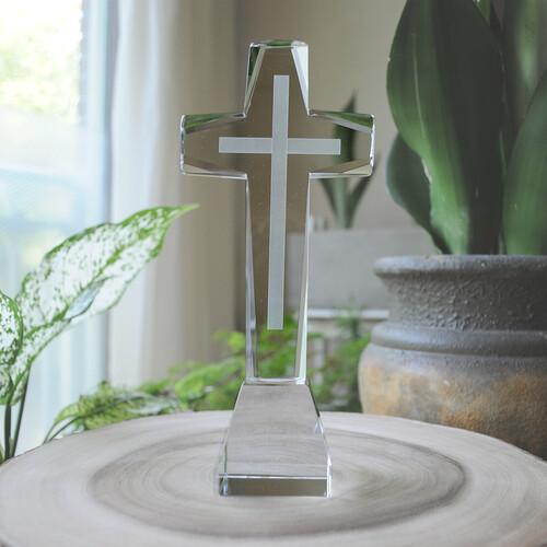 크리스탈 탁상용 스탠딩 집들이 태신자 심방 기독교용품 크리스찬 선물용 십자가