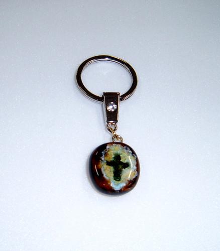 색유리 십자가 도제 열쇠고리(5,7cm)