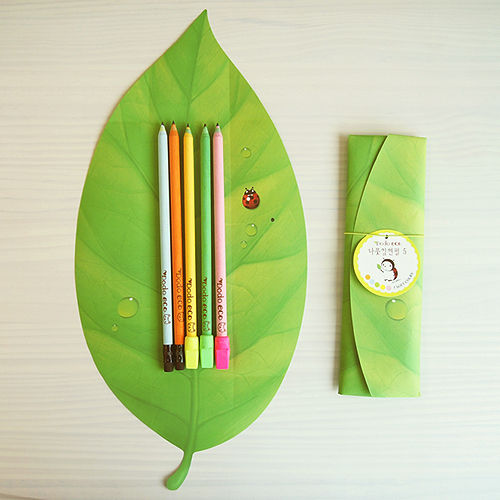 나뭇잎 연필