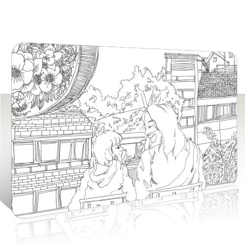 ★캠프코리아★교통카드 스티커_04.예수님사랑(디자인토스트)