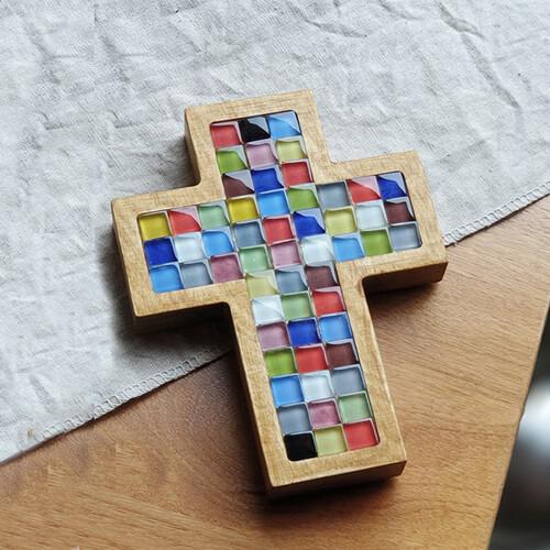 십자가 (멀티칼라 : 유리)