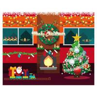 대형 배경 현수막 - 크리스마스 1528