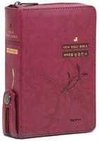 큰글자 성경전서 & 통일찬송가 특소 합본 (색인/이태리신소재/지퍼/자주)