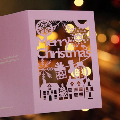 하베스터 크리스마스 카드 - 미라클 타운