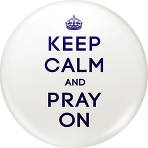 Keep calm 시리즈 화이트 핀버튼