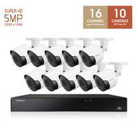 한화테크윈 와이즈넷 SDH-C1610BF 16채널 10카메라 CCTV 패키지