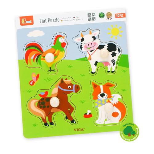 비가 원목 궁금해 꼭지퍼즐 - 가축동물