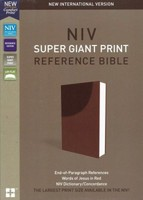 NIV: Super Giant Print Reference Bible, Red Letter (Imitation Leather, Brown)