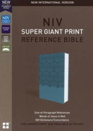 NIV: Super Giant Print Reference Bible (Imitation Leather, Blue, Red Letter)