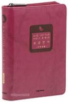 BIG LETTER HOLY BIBLE 성경전서 특소 단본(색인/이태리신소재/지퍼/자주)