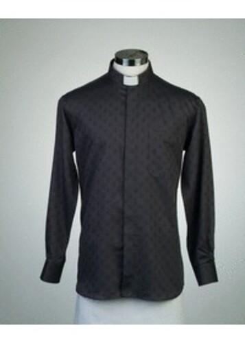 목회자셔츠-알파셔츠 검정 (로만카라)