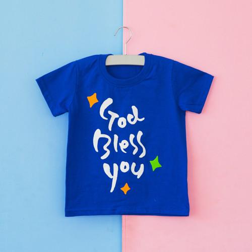 글로리월드 티셔츠 - 갓블레스유(코발트 블루)