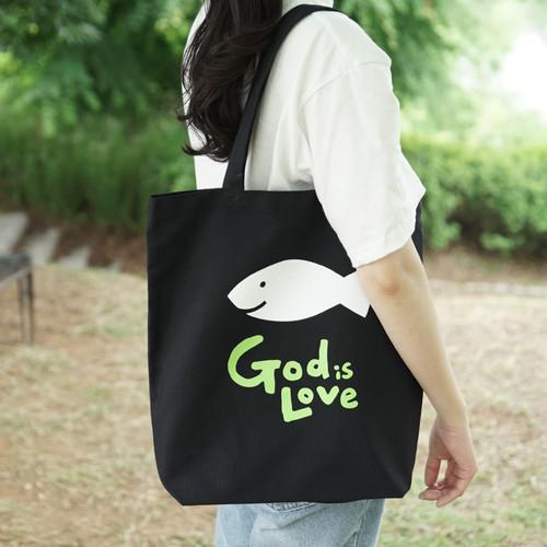 [글로리월드] 갓이즈러브 에코백 - 블랙