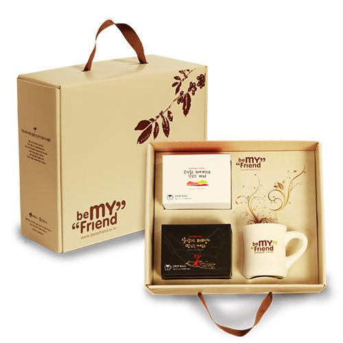 [비마프]기아대책 공정무역커피_비마프 2호 드립백 세트+선물박스(커피2종/머그컵)