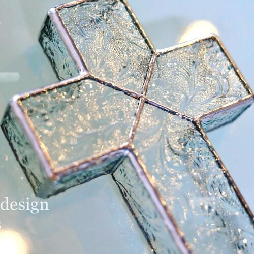벽걸이 입체 유리 십자가