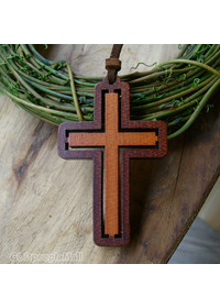 투톤(Two-tone) 십자가(투각)-차량용, 작은 공간용