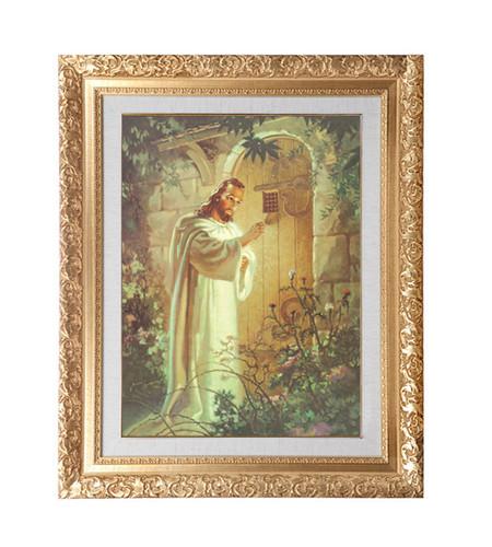 성화액자-대형 문밖에서두드리시는예수님 98-128cm
