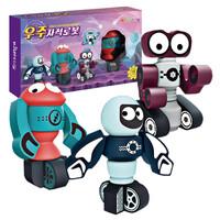 [키즈토이] 어린이 선물 자석 로봇 3종   예쁜 포장 박스 세트