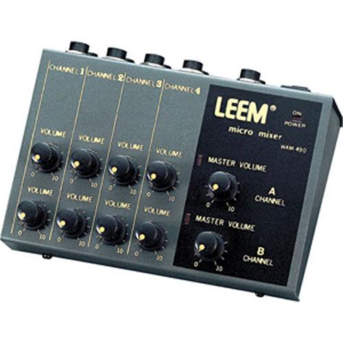 LEEM WAM-490 마이크 프리앰프 (채널 확장기, 분배기, 스테레오 4채널 또는 모노 8채널) - 전원아답타 제외
