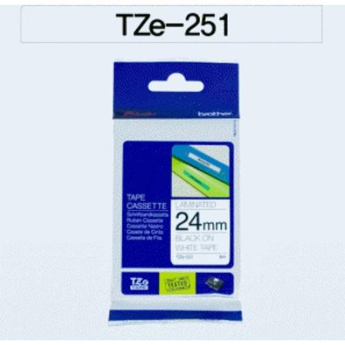 TZ테이프 24mm (부라더 라벨테이프,TZ-251)