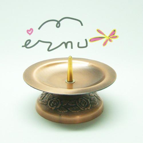 촛불 예배용 촛대 (민무늬꽃무늬받침) - 구리색(1EA)