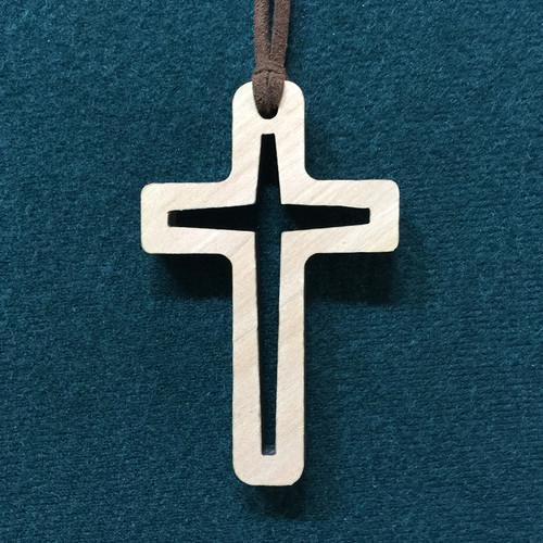 예수님의빛/나무십자가목걸이