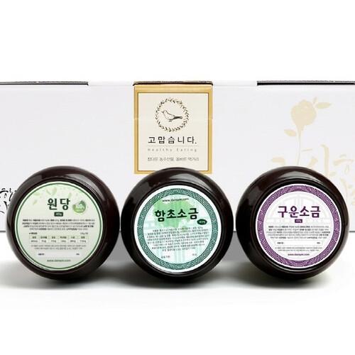 단짠 3종 선물세트 (원당-소금) (400g~450g)