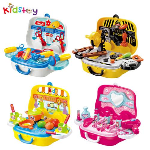 [키즈토이] 스쿨버스 미용 주방 병원 공구 역할놀이 주일학교 어린이 선물 세트