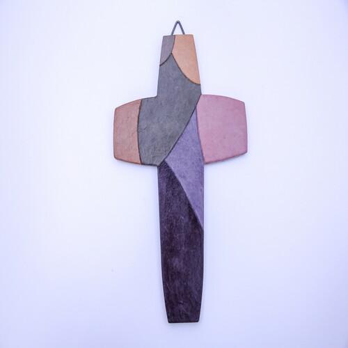한지 수공예 둥근 분할면 십자가
