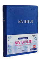 아가페 영문 NIV BIBLE 성경 소 단본(색인/펄비닐/무지퍼/블루)