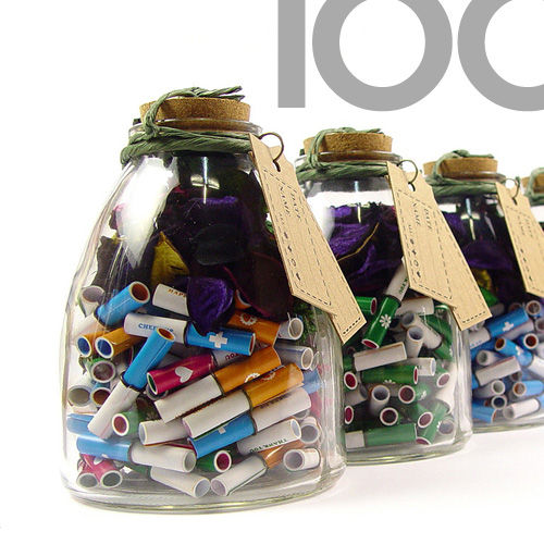 [타임캡슐편지] 네가지 마음 종모양 100일편지 천연향기 유리병편지 포푸리 마리편지