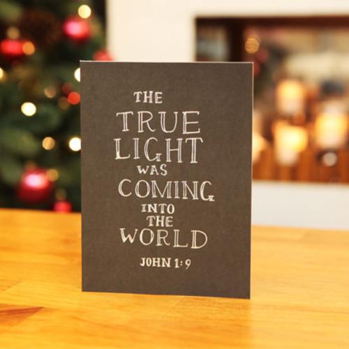 하베스터 크리스마스 카드 - 블랙보드