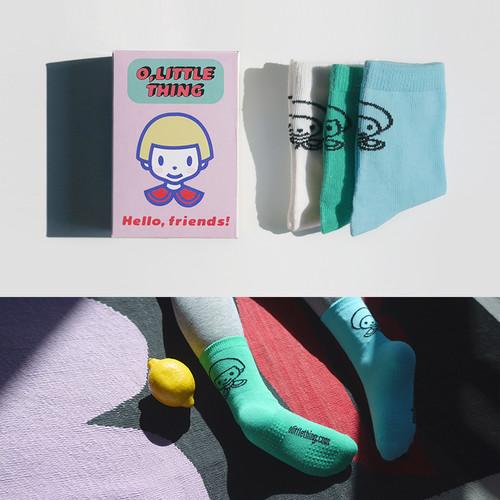 [어린이단체선물] 양말 구디백 답례품