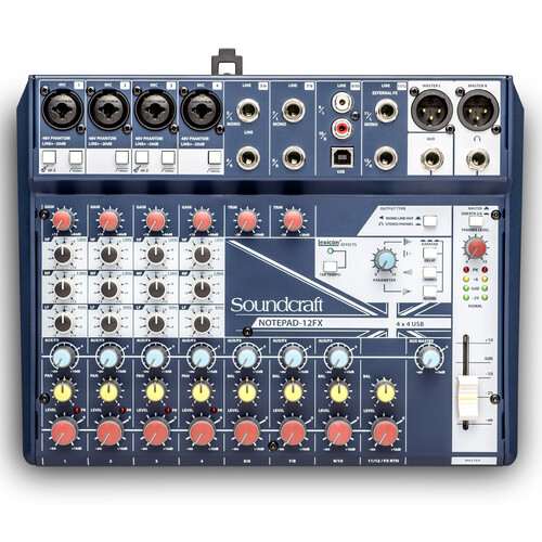 Soundcraft Notepad-12FX 아날로그 믹서