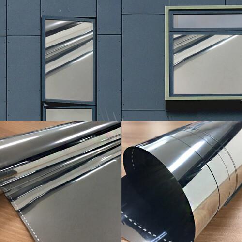 창문용 거울효과 은반사 실버미러 시트지 2밀