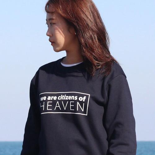 갓피플 맨투맨 티셔츠- HEAVEN