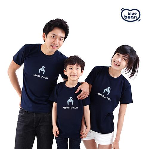 블루빈 전신갑주 티셔츠-구원의 투구(네이비)