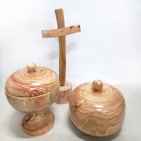 편백나무 성찬기,십자가세트