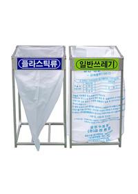 비닐걸이 분리수거함 - 사각파이프 일반형 100 (100리터)