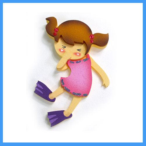 프뉴마폼아트 환경꾸미기 - 수영하는 여자아이