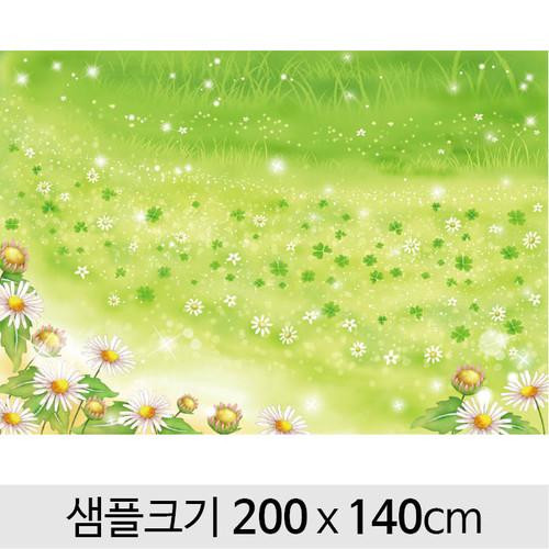 봄배경현수막(꽃밭)-110 (200 x 140 )