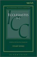 ICC: Ecclesiastes 1-5 (양장본)