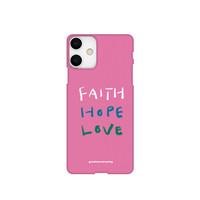 폰케이스 30. Faith,Hope,Love 핑크색